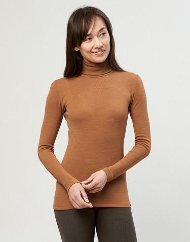 Merino Rollkragen Shirt Karamell
