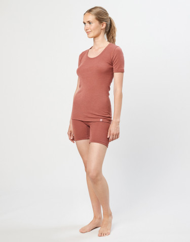 Merino Shorts Damen rouge