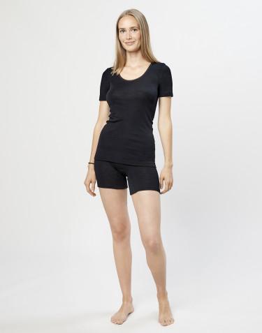 Merino Shorts für Damen schwarz