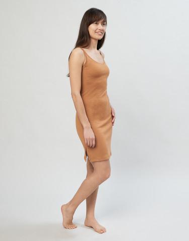 Nachthemd aus Merinowolle karamell