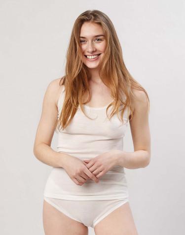 Merino Unterhemd für Damen natur