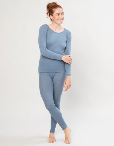 Merino Leggings für Damen Blau