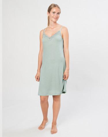 Damen Nachthemd aus natürlicher Wolle/ Seide pastellgrün
