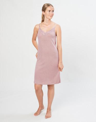 Damen Nachthemd aus natürlicher Wolle/ Seide pastellrosa