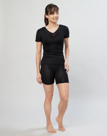 Damen Shorts aus Wolle/ Seide schwarz