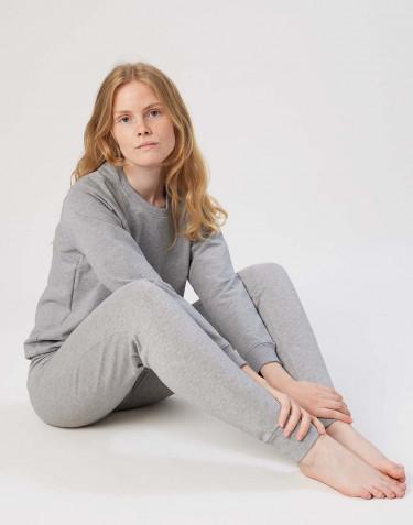 Damen Sweatshirt aus Baumwolle graumeliert