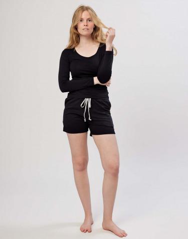 Baumwoll Shorts für Damen schwarz