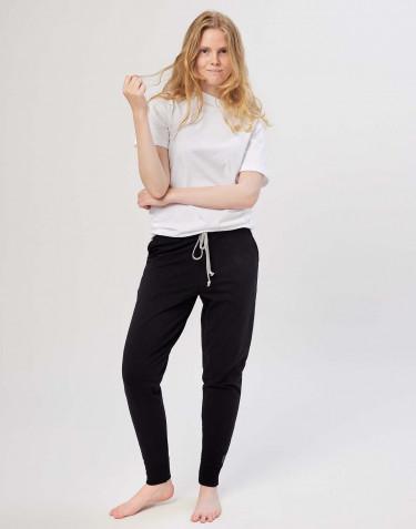 Jogginghose für Damen aus Baumwolle schwarz