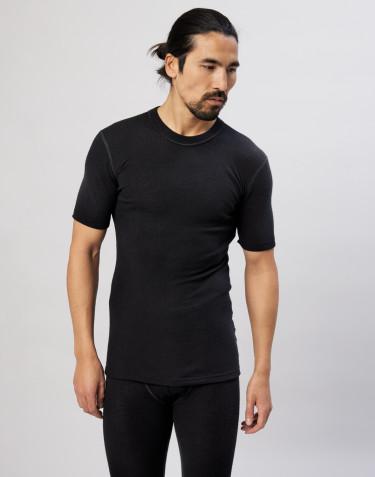 Merino Halbarmshirt für Herren schwarz
