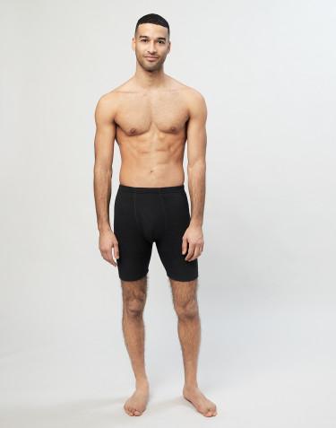 Merino Boxershorts mit Eingriff für Herren schwarz
