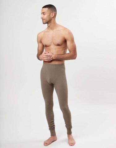 Lange Unterhosen mit Eingriff aus Merinowolle für Herren