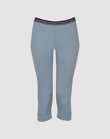 ¾ Damen Leggings - exklusive Merinowolle mineralblau