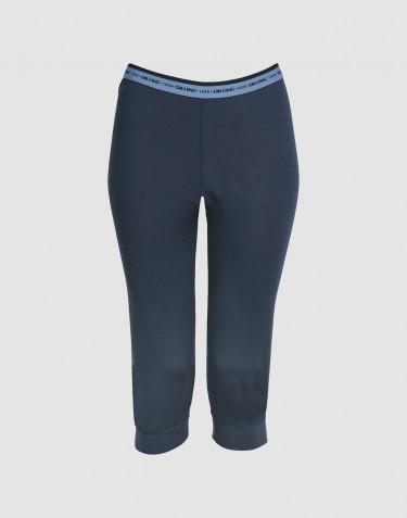¾ Leggings für Damen - exklusive Merinowolle dunkelblau