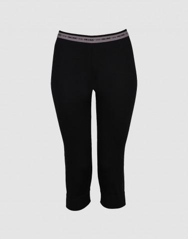 ¾ Leggings für Damen schwarz - exklusive Merinowolle