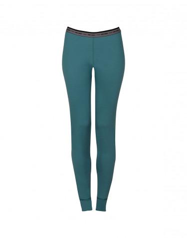 Leggings Dame - exklusive Merinowolle aquagrün