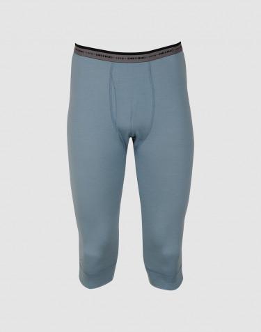¾ lange Unterhose - exklusive Merinowolle mineralblau