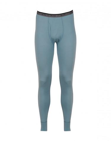 Lange Unterhose - exklusive Merinowolle mineralblau