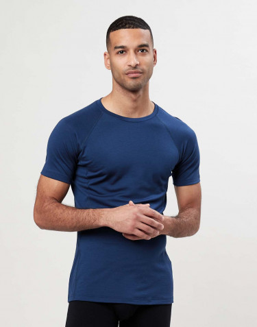Exklusives Merino Shirt Herren dunkelblau
