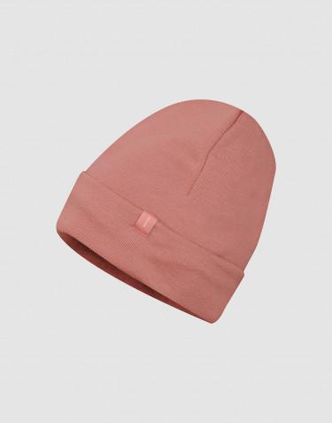 Mütze aus Wollfrottee Rosa