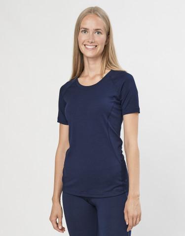 T-Shirt für Damen - exklusive Bio Merinowolle Navy