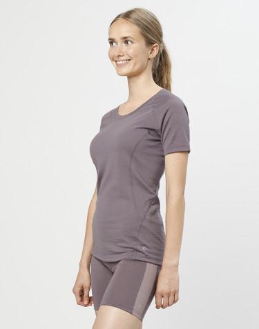 T-Shirt für Damen - exklusive Bio Merinowolle Lavendelgrau
