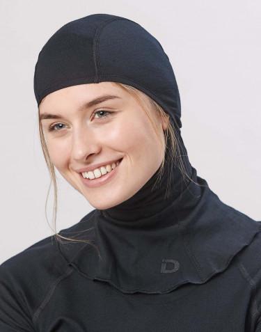 Damen Schlupfmütze - exklusive Bio Merinowolle Schwarz
