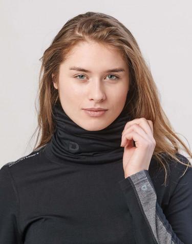 Schlauchschal für Damen exklusive Merinowolle Schwarz