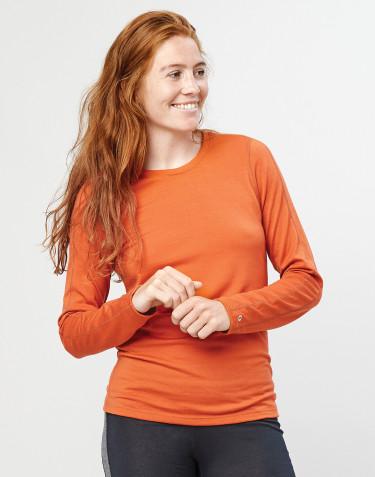 Damen Unterhemd - exklusive Bio Merinowolle Orange