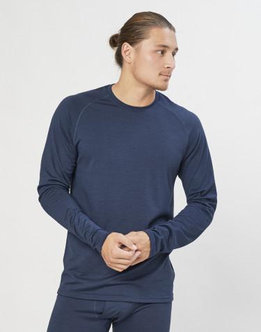 Herren Shirt aus exklusiver Bio Merinowolle Graublau