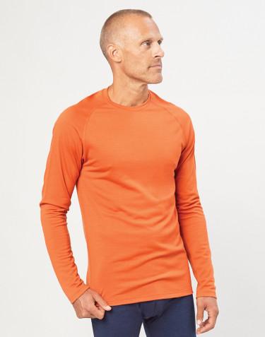 Herren Shirt aus exklusiver Bio Merinowolle Orange