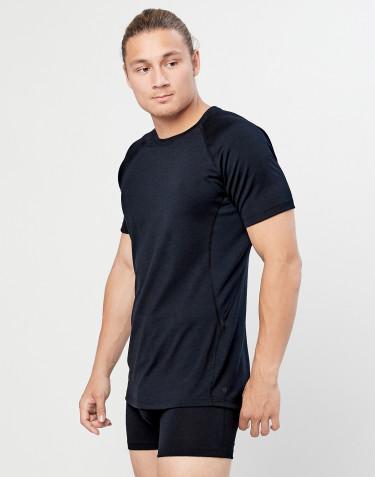 Herren T-Shirt - natürliche exklusive Merinowolle Schwarz