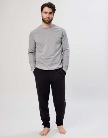 Jogginghose aus Baumwolle für Herren schwarz