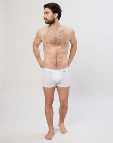 Baumwoll Boxershorts für Herren weiß