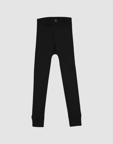 Kinder Leggings - BIO Merinowolle schwarz