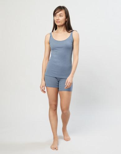 Merino Wollshorts für Damen Blau