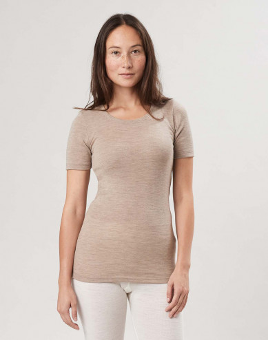 Damen T-Shirt aus Merinowolle