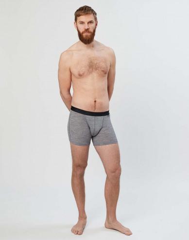 Merino Boxershorts für Herren grau melange