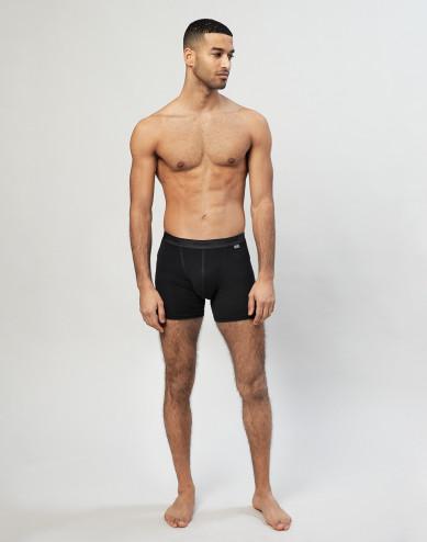 Merino Boxershorts für Herren schwarz