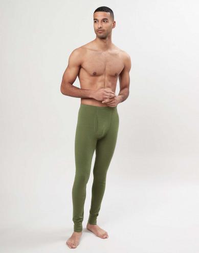 Herren Merino Leggings mit Eingriff - Avocado Grün
