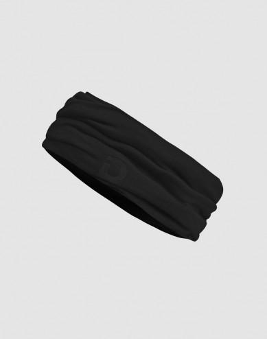 Schlauchschal für Herren aus natürlicher exklusiver Merinowolle Schwarz