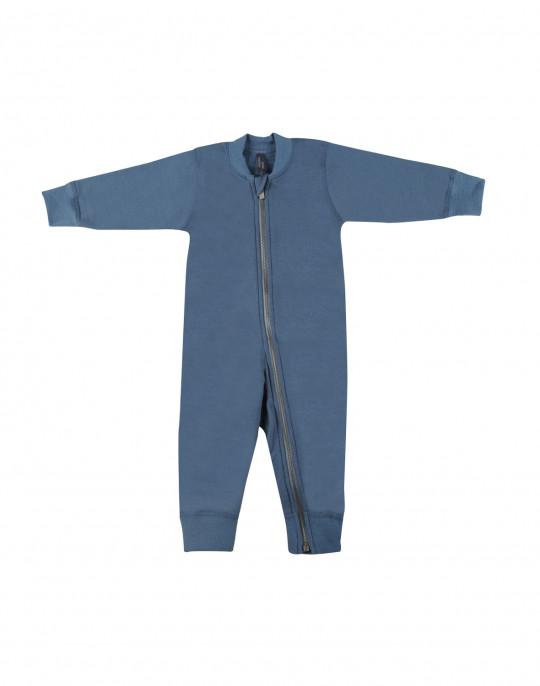 DILLING Overall für Babys aus Wollfleece dunkelgrau 100/% Merinowolle NEU
